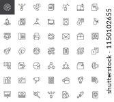 business outline icons set.... | Shutterstock .eps vector #1150102655