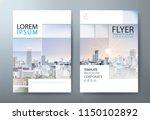 annual report brochure flyer...   Shutterstock .eps vector #1150102892