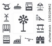 set of 13 simple editable icons ...   Shutterstock .eps vector #1150104842