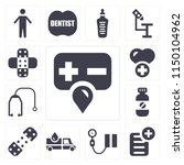 set of 13 simple editable icons ... | Shutterstock .eps vector #1150104962