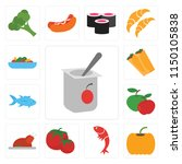 set of 13 simple editable icons ... | Shutterstock .eps vector #1150105838