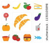set of 13 simple editable icons ... | Shutterstock .eps vector #1150105898