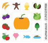 set of 13 simple editable icons ... | Shutterstock .eps vector #1150105988
