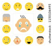 set of 13 simple editable icons ... | Shutterstock .eps vector #1150106495