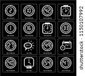 set of 16 icons such as the 47...