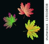 embroidered maple leaves on... | Shutterstock .eps vector #1150108538