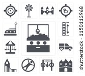 set of 13 simple editable icons ...   Shutterstock .eps vector #1150113968