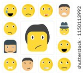 set of 13 simple editable icons ... | Shutterstock .eps vector #1150113992