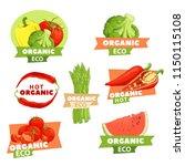 bright tastry set of logos with ... | Shutterstock .eps vector #1150115108