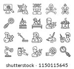 set of 20 icons such as loupe ... | Shutterstock .eps vector #1150115645