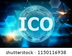 creative glowing ico background.... | Shutterstock . vector #1150116938