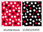 hand drawn squares  circles and ... | Shutterstock .eps vector #1150125455