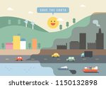 a picture of a city with a... | Shutterstock .eps vector #1150132898