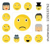 set of 13 simple editable icons ... | Shutterstock .eps vector #1150133762
