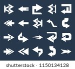 set of 20 simple editable icons ... | Shutterstock .eps vector #1150134128