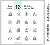 building icons. set of  line... | Shutterstock .eps vector #1150136882