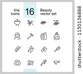 beauty icons. set of line icons.... | Shutterstock .eps vector #1150136888