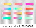 gradient post tag sticker.... | Shutterstock .eps vector #1150138382