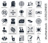 set of 25 simple editable icons ... | Shutterstock .eps vector #1150139855