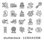 set of 20 icons such as cell...