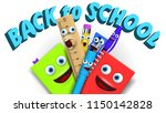 back to school template with... | Shutterstock .eps vector #1150142828