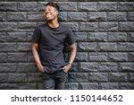 handsome african american man... | Shutterstock . vector #1150144652