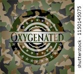 oxygenated on camo pattern | Shutterstock .eps vector #1150145075