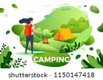 vector illustration    tourist... | Shutterstock .eps vector #1150147418