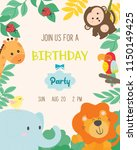 Cute Animal Theme Birthday...