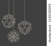 minimalism linear floral... | Shutterstock .eps vector #1150150355