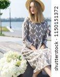 a wonderful  beautiful girl on... | Shutterstock . vector #1150151372