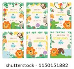 set of cute animal theme... | Shutterstock .eps vector #1150151882