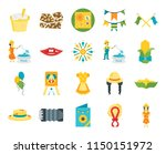 set of 20 icons such as girl ...
