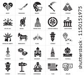 set of 25 icons such as dollar  ...