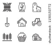 set of 9 simple editable icons... | Shutterstock .eps vector #1150153772