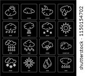 set of 16 icons such as rain ...   Shutterstock .eps vector #1150154702