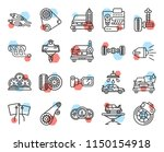 set of 20 icons such as disc... | Shutterstock .eps vector #1150154918
