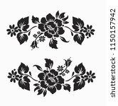 flower motif sketch for design | Shutterstock .eps vector #1150157942
