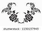 flower motif sketch for design | Shutterstock .eps vector #1150157945