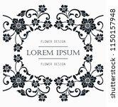flower motif sketch for design | Shutterstock .eps vector #1150157948