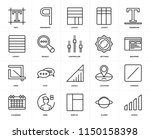 set of 20 icons such as levels  ...