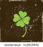 clover four leaf on grunge...