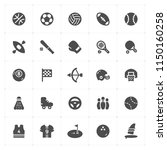 icon set   sport filled icon... | Shutterstock .eps vector #1150160258