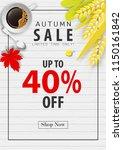 autumn sale banner background ... | Shutterstock .eps vector #1150161842