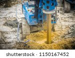 hydraulic drilling machine is... | Shutterstock . vector #1150167452