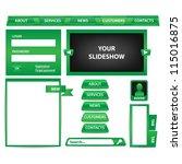 website design elements | Shutterstock .eps vector #115016875