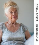 portrait of elderly woman... | Shutterstock . vector #1150174532