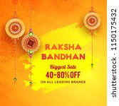 raksha bandhan biggest sale... | Shutterstock .eps vector #1150175432