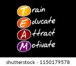 team   train  educate  attract  ...   Shutterstock .eps vector #1150179578