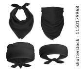 vector. mock up. black set... | Shutterstock .eps vector #1150179968
